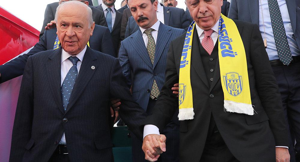 Cumhurbaşkanı Recep Tayyip Erdoğan - MHP Genel Başkanı Devlet Bahçeli