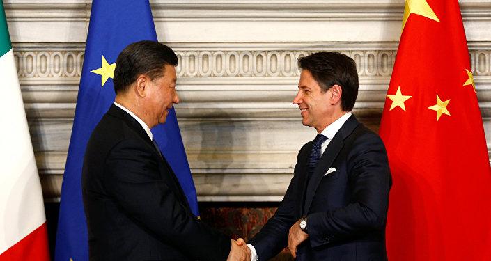 Çin Devlet Başkanı Şi Cinping- İtalya Başbakanı Guiseppe Conte