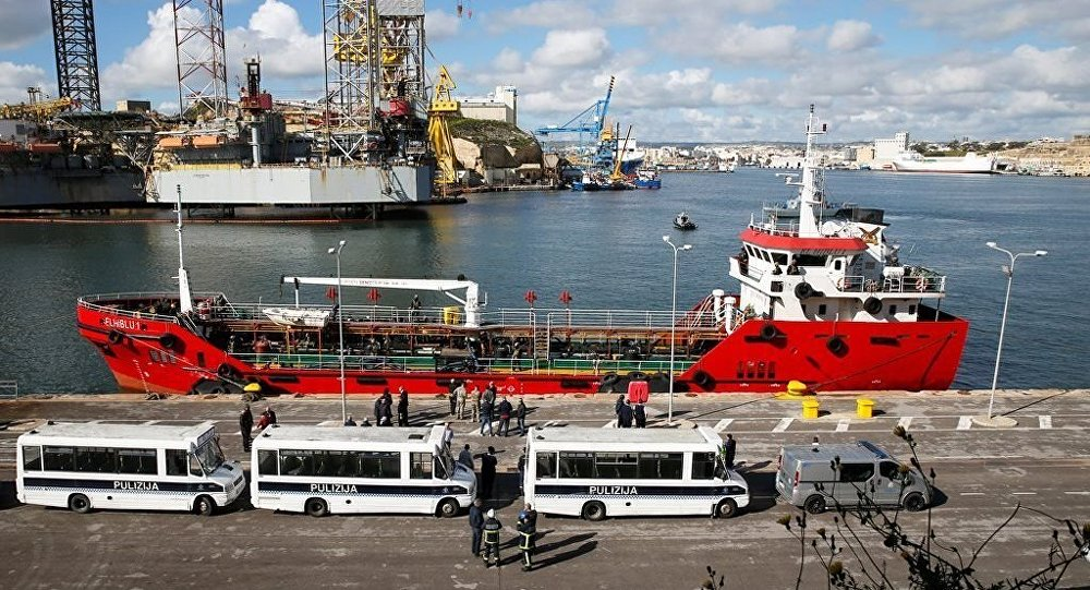 Palau bayraklı 'Elhiblu 1' isimli tanker