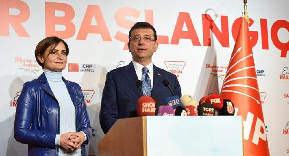 CHP İstanbul İl Başkanı Canan Kaftancıoğlu ile Millet İttifakı'nın İstanbul adayı Ekrem İmamoğlu -