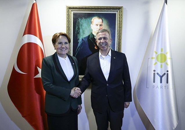 Yavaş'tan Akşener'e teşekkür ziyareti