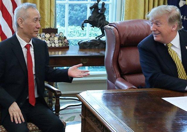 ABD Başkanı Donald Trump - Çin'in baş müzakerecisi Başbakan Yardımcısı Liu He