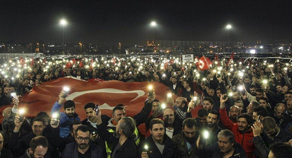 Uber şoförlerinden protesto
