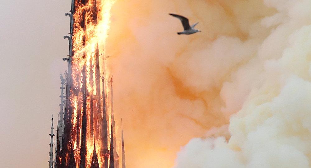 Paris Notre Dame Katedrali'nde yangın çıktı