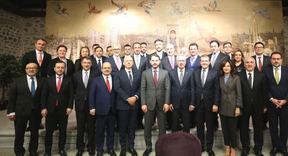 Albayrak, bankacılık sektör temsilcileri ile bir araya geldi