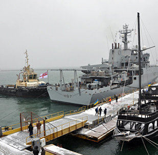 HMS Echo Ukrayna ziyaretinde
