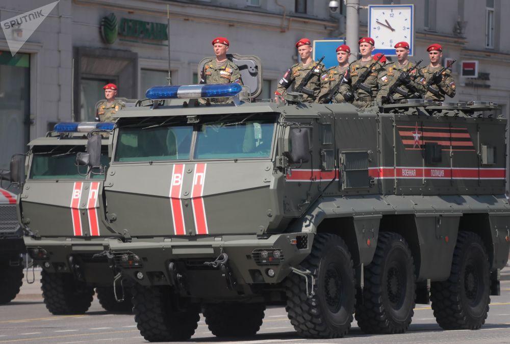 Zafer Günü askeri geçit töreninin genel provasında yer alan Tayfun-K zırhlı aracı.