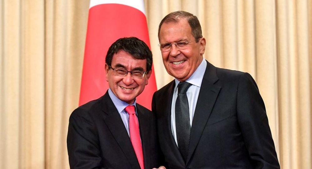 Rusya Dışişleri Bakanı Sergey Lavrov-Japonya Dışişleri Bakanı Taro Kono