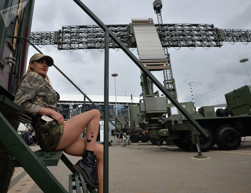 Minsk'te yapılan MILEX-2019 Uluslararası Savunma Sanayii Fuarı'ndan bir kare.