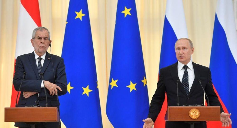 Avusturya Cumhurbaşkanı Alexander Van der Bellen - Rusya Devlet Başkanı Vladimir Putin