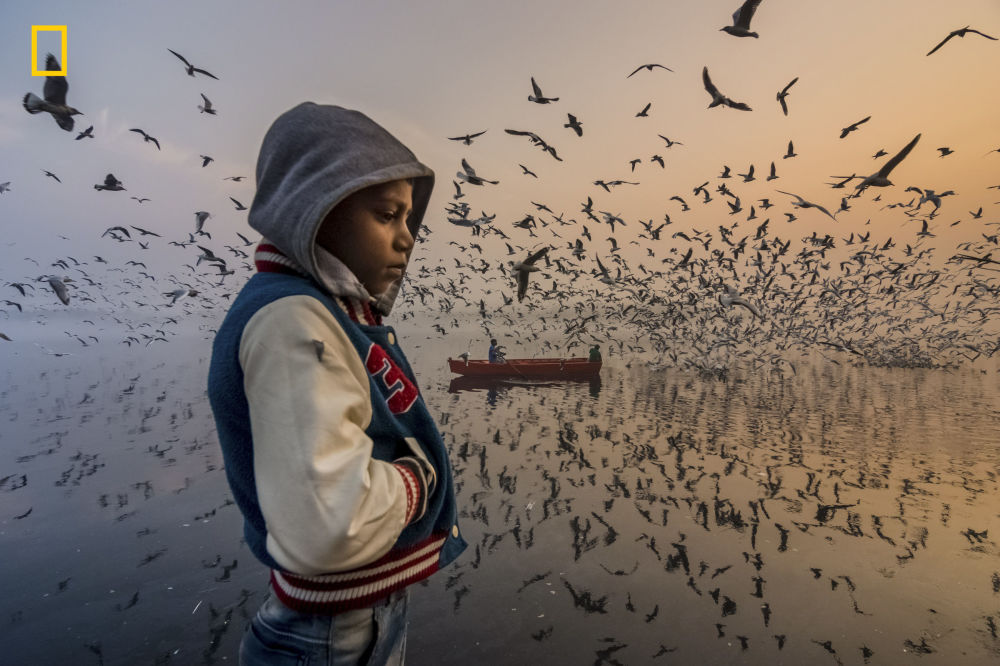 2019 National Geographic Seyahat Fotoğrafı Yarışması'nın İnsanlar kategorisinde Onur Ödülü'ne layık görülen fotoğrafçı Navin Vatsa'nın Hindistan'da çektiği Mood isimli görüntü.