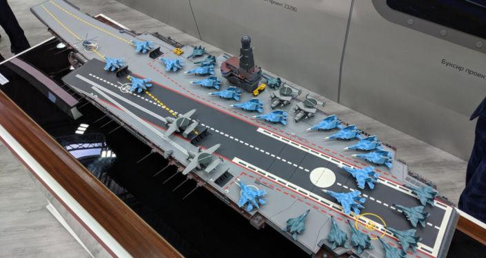 St. Petersburg merkezli Nevskoe Tasarım ve Mühendislik Bürosu, 11430E projesi kapsamında geliştirilecek olan 'Lamantin' nükleer uçak gemisi projesini St. Petersburg'daki Uluslararası Askeri Denizcilik Fuarı'nda tanıttı.