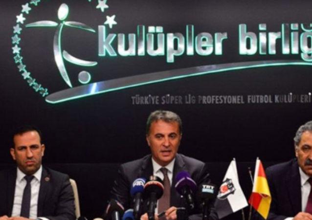 Kulüpler Birliği toplantısı sonrası başkan Fikret Orman, basın mensuplarına açıklamada bulundu.