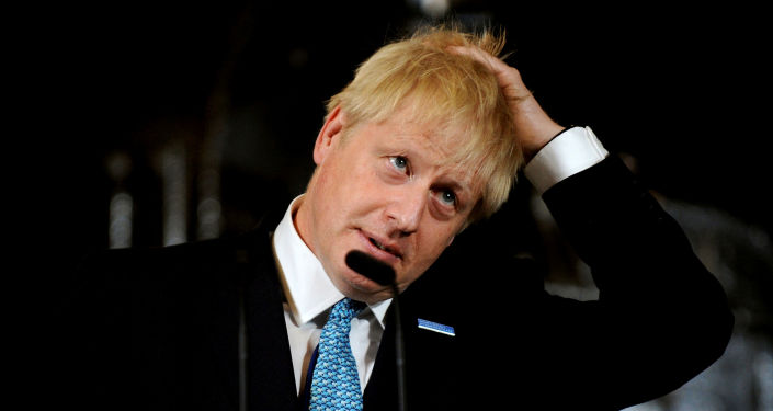 Britain's Prime Minister Boris Johnson touches his hair during a speech on domestic priorities at the Science and Industry Museum in Manchester, Britain July 27, 2019. Rui Vieira/Pool via REUTERS