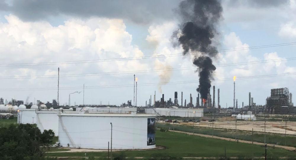 Teksas'ta rafineri yangını
