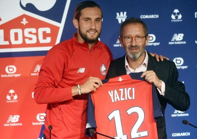 Yusuf Yazıcı ve Lille Kulübü'nün CEO'su Marc Ingla