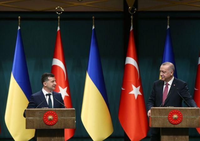 Türkiye Cumhurbaşkanı Recep Tayyip Erdoğan, Ukrayna Devlet Başkanı Vladimir Zelenskiy ile baş başa ve heyetlerarası görüşmeler sonrası ortak basın toplantısı düzenledi.
