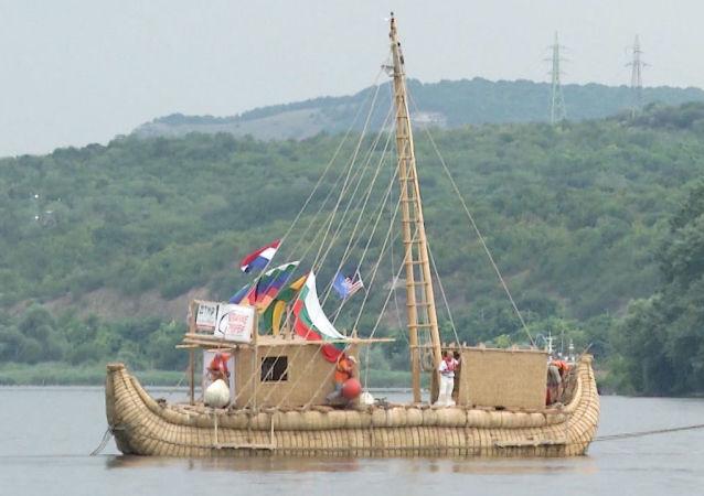 Kamış tekneyle seyahat