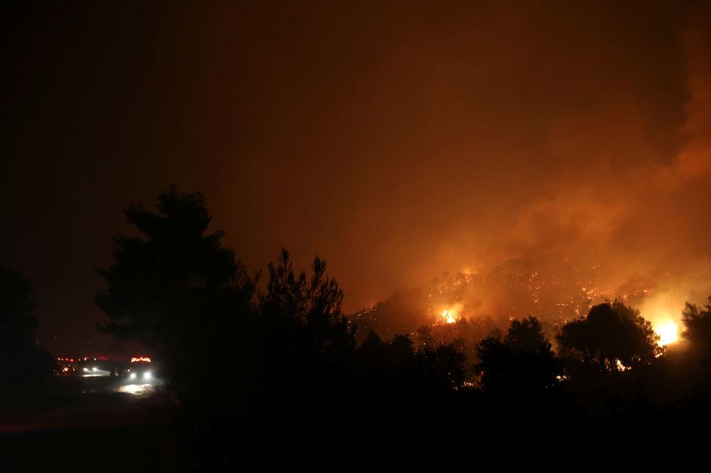 Yangın nedenlerini araştırmak üzere İtfaiye memurları yanı sıra adaya 'kundaklama olaylarını araştırma' konusunda uzmanlaşmış ekiplerin de gönderildiği bildirildi.