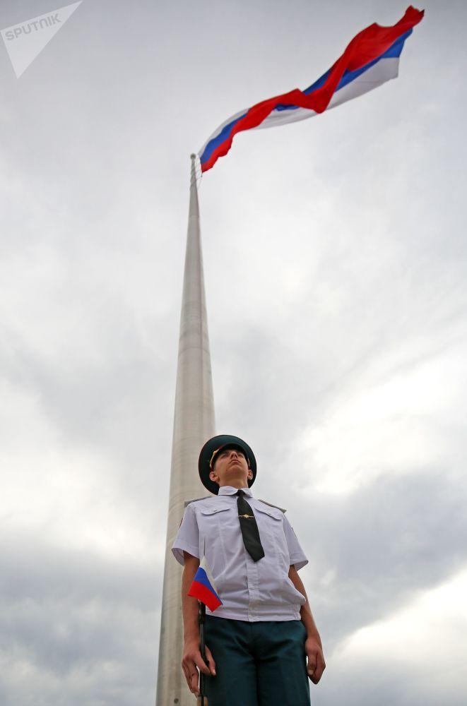 Ulusal Bayrak Günü kutlamaları Krasnodar kentinde de yapıldı.