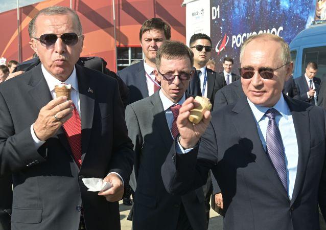 Türkiye Cumhurbaşkanı Recep Tayyip Erdoğan ve Rusya Devlet Başkanı Vladimir Putin