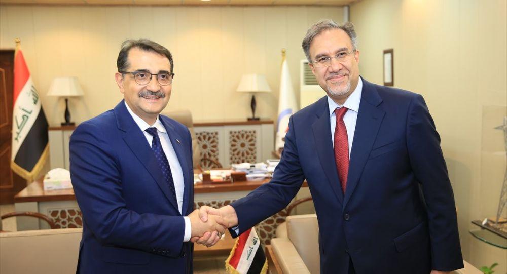 Enerji ve Tabii Kaynaklar Bakanı Fatih Dönmez ve  Irak Elektrik Bakanı Luey el-Hatib