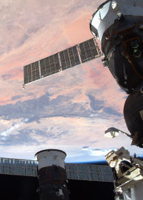Uluslararası Uzay İstasyonu'ndan görüntülenen Dünya görüntüsü
