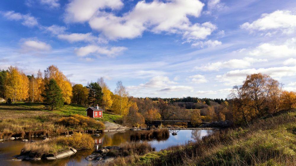 1. Finlandiya  Fotoğrafta: Vahşi doğa gezileri için en iyi ülkeler sıralamasında zirveye oturan Finlandiya'nın doğa manzarası.