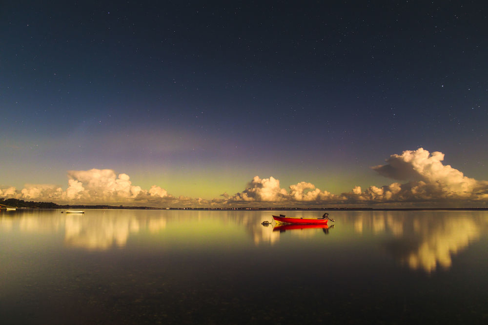 Yarışmanın Kutup Işıkları kategorisinde takdire layık görülen Litvanyalı fotoğrafçı Ruslan Merzlyakov'un çalışması.