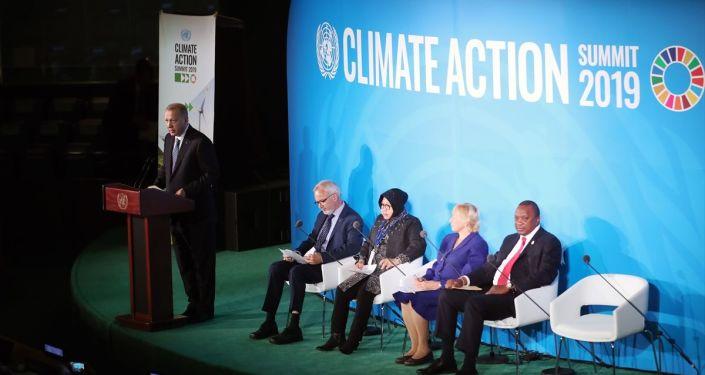 Türkiye Cumhurbaşkanı Recep Tayyip Erdoğan, Birleşmiş Milletler (BM) İklim Zirvesi'ne katıldı.