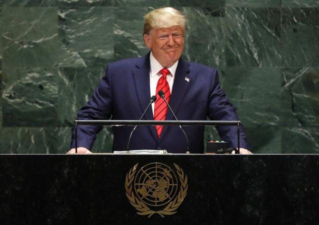 Donald Trump 24 Eylül 2019'da 74. BM Genel Kurulu'na hitap ederken