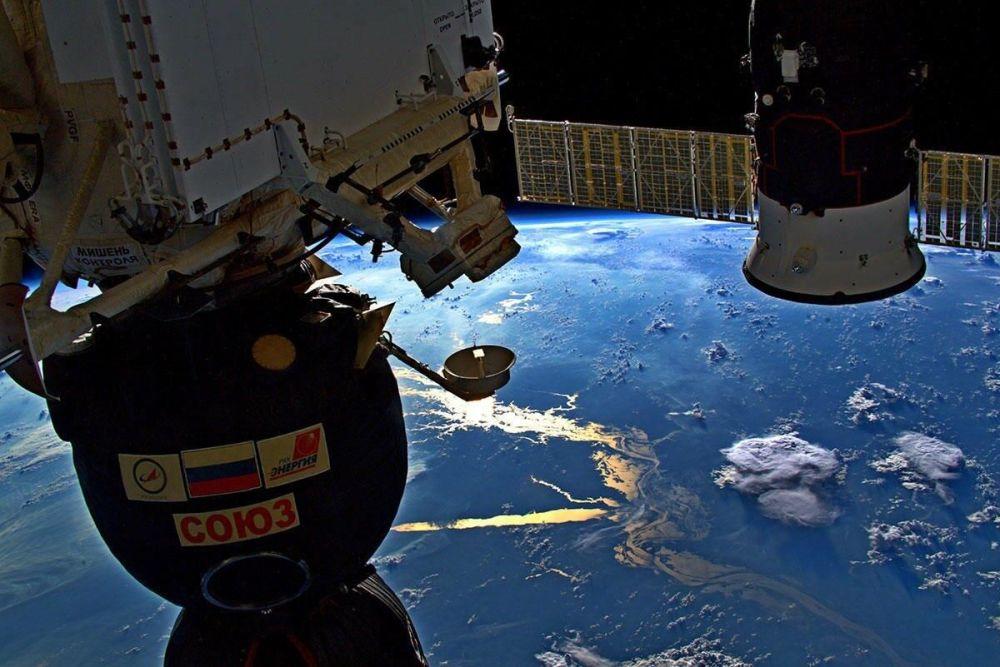 Uluslararası Uzay İstasyonu'ndan çekilen Amazon Nehri görüntüsü.