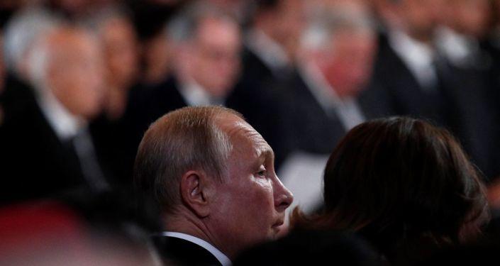 Putin, geçen perşembe hayatını kaybeden eski Fransa Cumhurbaşkanı Jacques Chirac'ın cenaze töreninde