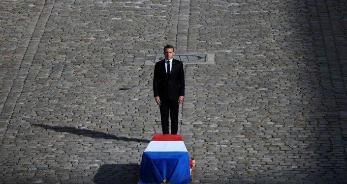 Macron, geçen perşembe hayatını kaybeden eski Fransa Cumhurbaşkanı Jacques Chirac'ın cenaze töreninde
