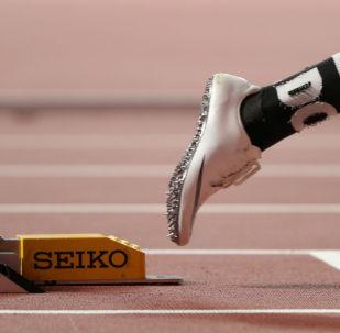 Athletics - World Athletics Championships - Doha 2019 - Men's 400 Metres Hurdles Semi Finals - Khalifa International Stadium, Doha, Qatar - September 28, 2019  Qatar's Abderrahman Samba races out of the blocks at the start of his semi final REUTERS/Lucy Nicholson     TPX IMAGES OF THE DAY