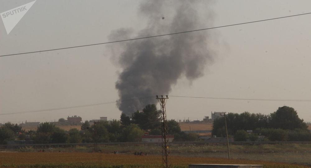 Akçakale - Tel-Abyad bölgesindeki Türkiye-Suriye sınırı