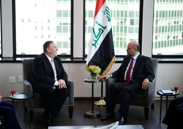 Pompeo, Irak Cumhurbaşkanı Salih