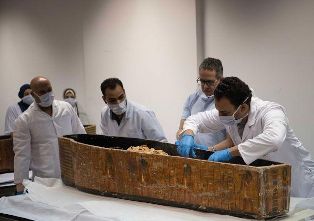 Mısır'da 20 lahitli mezarlık bulundu