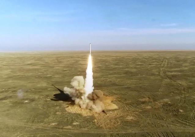 Grom-2019 tatbikatındaki balistik füze testi görüntüleri yayınlandı