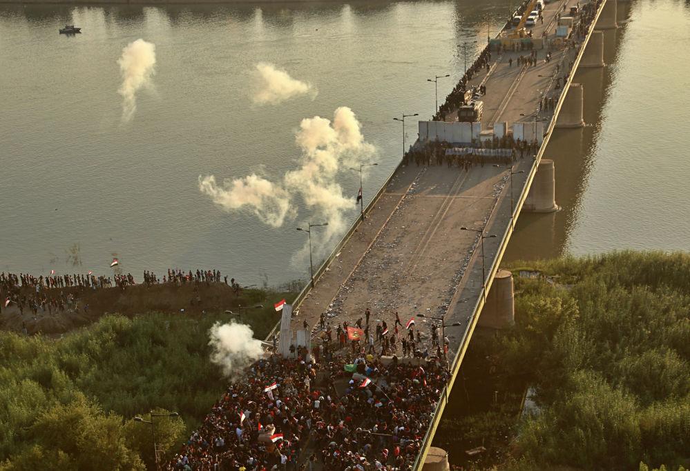 Irak'ta Erbain günü nedeniyle ara verilen gösteriler 25 Ekim'de yeniden başlamıştı.