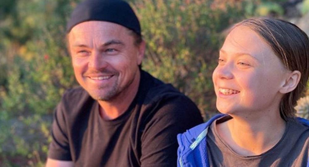 İsveçli iklim aktivisti Greta Thunberg'e, Oscarlı oyuncu Leonardo DiCaprio'dan destek geldi