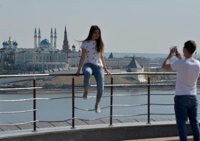 Kazan  Fotoğrafta: Rusya'ya bağlı Tataristan Cumhuriyeti'nin başkenti Kazan'ın en popüler görülmesi gereken yerlerinden biri Kazan Kremlini