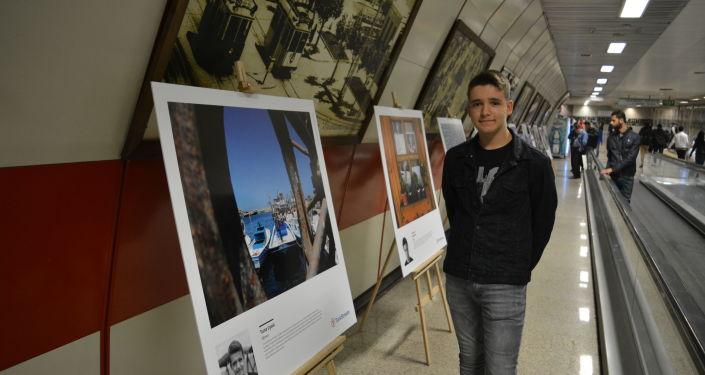 14 yaşındaki Tuna Uysal, TürkAkım'ın düzenlediği fotoğraf eğitimi sonrası sergilenen fotoğrafıyla