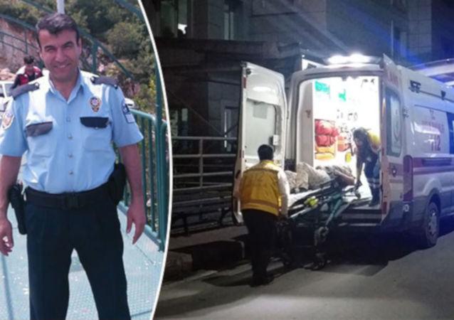 Bursa'da, komşular arasında yaşanan kavga ihbarı üzerine olay yerine giden polis memurlarından Alaattin Özdemir, yaşanan arbede sırasında kendi tabancası ile başından vuruldu