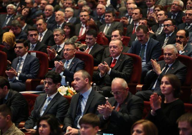 Türkiye Cumhurbaşkanı Recep Tayyip Erdoğan, Beştepe Millet Kongre ve Kültür Merkezi'nde Sürgünün 75. Yılında Ahıska Türkleri Anma Programına katıldı.