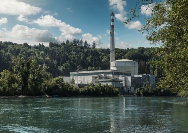 İsviçre'nin başkenti Bern yakınlarındaki Mühleberg Nükleer Enerji Santrali