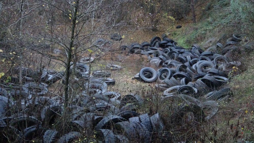 Öte yandan adeta çevreyi katleden yüzlerce lastiğin görüntüsü ise havadan çekilen görüntülerde daha net görülüyor. Lastiklerin oluşturduğu çevre kirliliği havadan net olarak görülebiliyor.