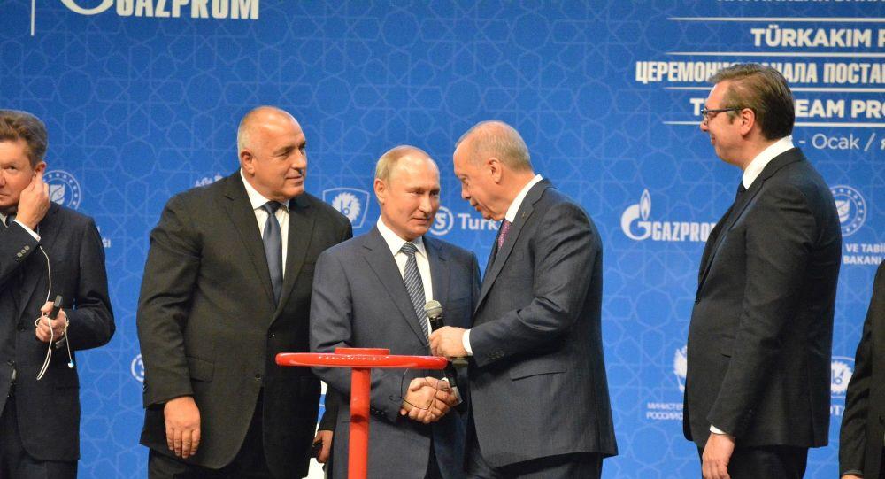 TürkAkım doğal gaz boru hattının açılış töreni