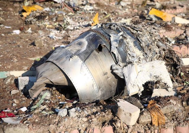 Tahran'da düşen Ukrayna Havayolları'na ait uçağı enkazı