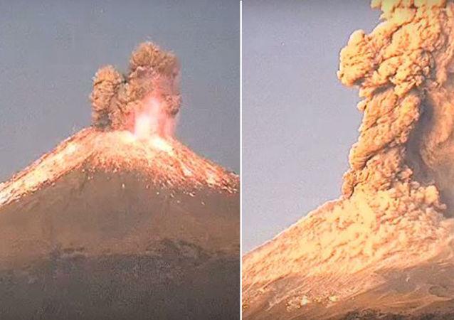 Meksika'daki Popocatepetl Yanardağı'nda patlama